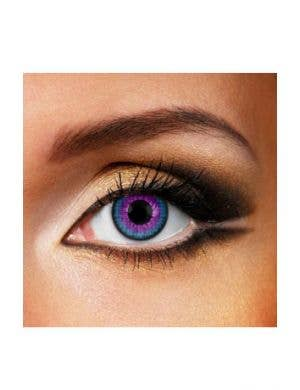 Galaxy Blue and Purple Single Wear Contact Lenses