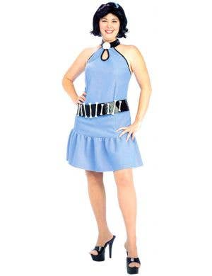 Plus Size Women's Betty Rubble Flintstones Costume Front View