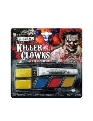 Global Colours Killer Clown Face and Body Special Effects Makeup Set