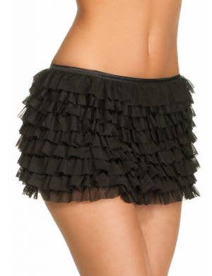 Ruffled Burlesque Skirt in Black