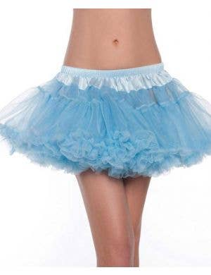 Mini Fluffy Light Blue Petticoat Front View