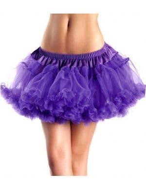 Mini Fluffy Purple Petticoat Front View
