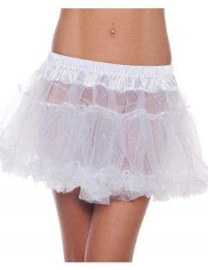 Mini Fluffy White Petticoat Front View