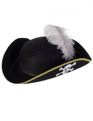 Caribbean Pirate Tri-corn Costume Hat