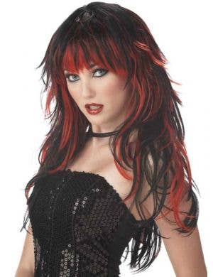 Tempting Tresses Black and Red Gothic Costume Wig