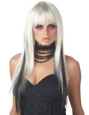 Chopstix Women's Black and White Gothic Wig