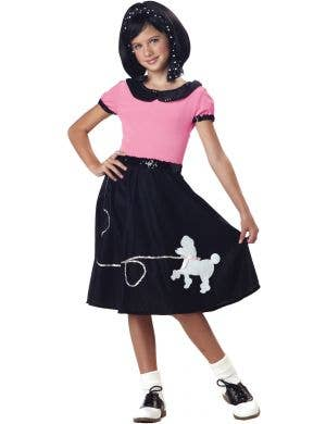 50's Pink and White Girls Sock Hop Costume Image 1