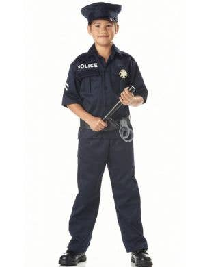 Boy's Police Officer Classic Uniform Costume Front