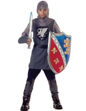 Boy's Medieval Knight Costume Dress Up Front View