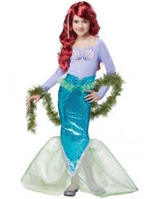 Girls Magical Mermaid Fancy Dress Costume