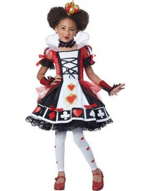 Children's Red Queen of Hearts Fancy Dress Costume