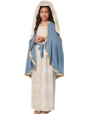 Girl's Virgin Mary Nativity Costume Front View