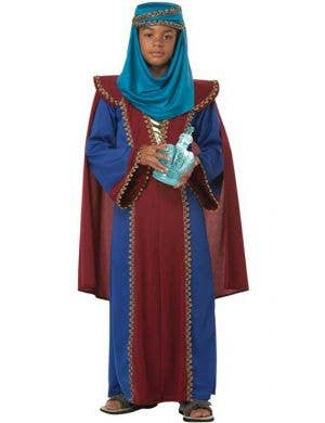 Boy's Wise Man Bible Nativity Middle East Costume Front View
