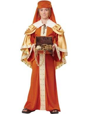 Wise Man Boy's Nativity Christmas Fancy Dress Costume Front View
