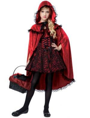 Girls Gothic Red Riding Hood Halloween Costume