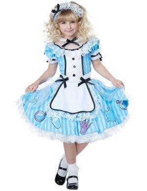 Alice In Wonderland Deluxe Girls Costume Image 2