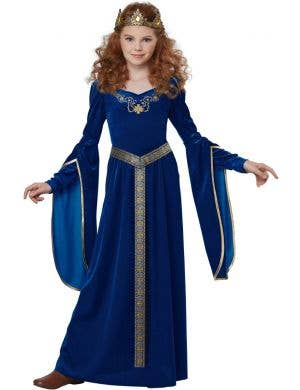 Medieval Princess Long Fancy Dress Renaissance Costume Main Image