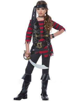 Girls Renegade Pirate Halloween Costume