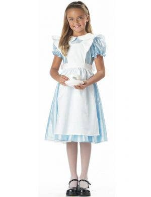 Girl's Alice in Wonderland Fancy Dress Costume Front View