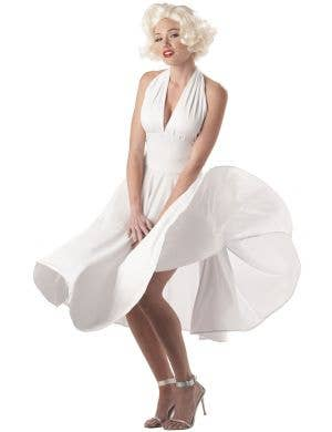 Women's Sexy Marilyn Monroe Iconic White Dress Costume Main Image