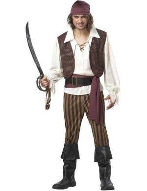 Rogue Pirate Men's Fancy Dress Costume