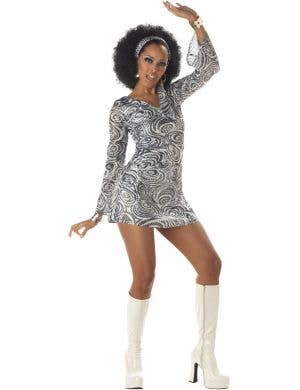 1970's Disco Diva Women's Fancy Dress Costume