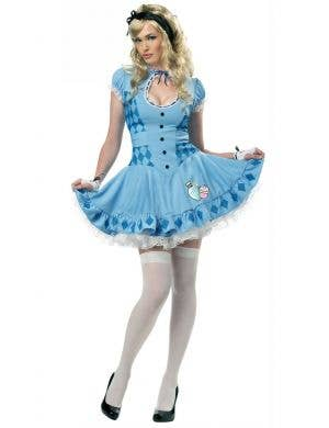 Women's Sexy Alice In Wonderland Fancy Dress Costume Main Image