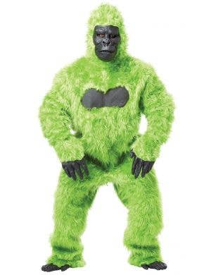 Bright Green Deluxe Gorilla Suit Adult's Costume