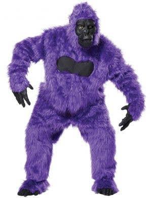 Bright Purple Deluxe Gorilla Suit Adult's Costume
