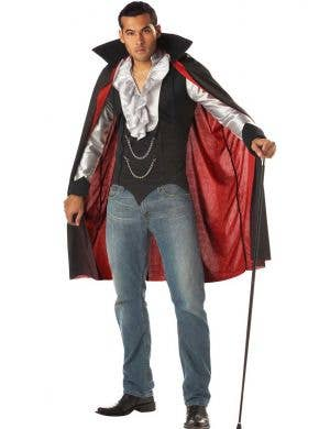 California Costumes Red And Black Victorian Style Cool Vampire Men's Halloween Costume Front Main Image