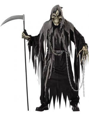 Men's Deluxe Grim Reaper Angel Of Death Costume