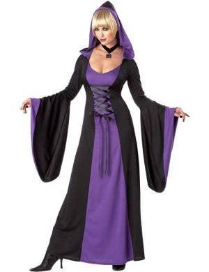 Hooded Purple Robe Women's Halloween Costume