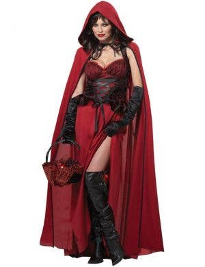Dark Red Riding Hood Women's Halloween Costume