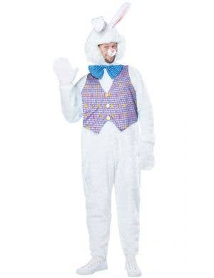 Plush Easter Bunny Adult's Fancy Dress Costume