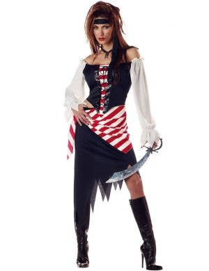 Pirate Beauty Ruby Women's Fancy Dress Costume