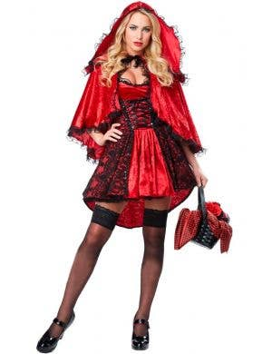 Women's Sexy Dark Red Riding Hood Deluxe Costume