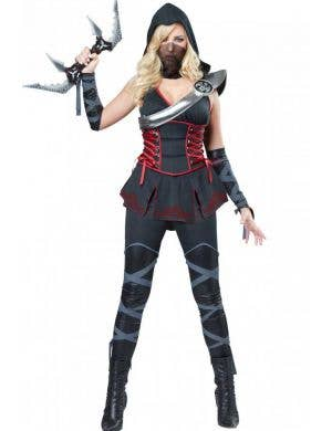 Women's Sexy Japanese Ninja Fancy Dress Costume Front Image
