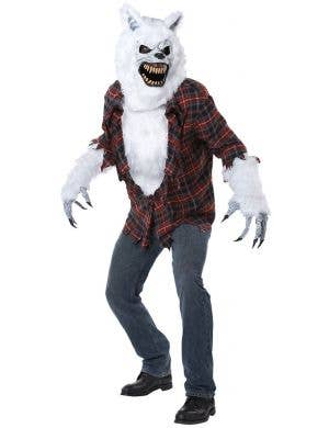 Men's White Lycan Werewolf Halloween Costume Main