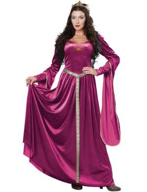 Lady Guinevere Berry Fancy Dress Adult's Medieval Costume Main Image