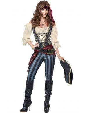 Pirate Buccaneer Women's Fancy Dress Costume