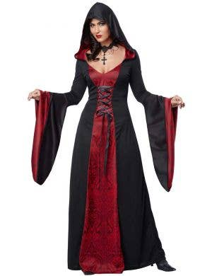 Women's Black and Red Gothic Halloween Costume Robe