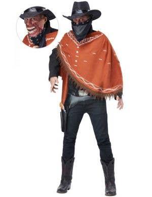 Men's Zombie Cowboy Halloween Fancy Dress Costume Main Image