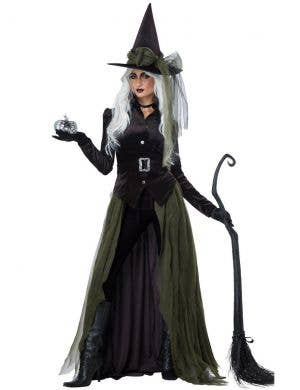 Gothic Women's Green Witch Halloween Costume