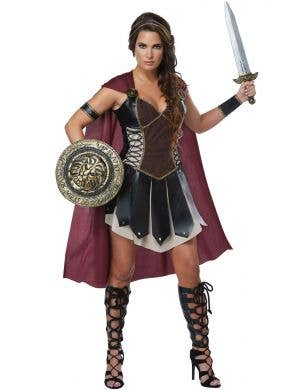 Glorious Gladiator Women's Warrior Fancy Dress Costume Main Image