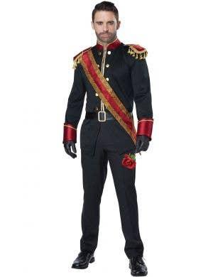 Men's Dark Prince Red and Black Storybook Costume Main Image