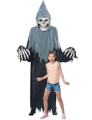 Towering Terror Adult's Grim Reaper Halloween Dual Use Costume
