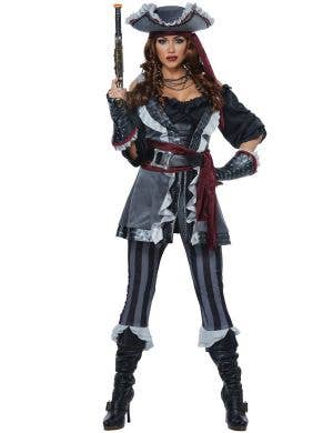 Captain Blackheart Women's Sexy Pirate Costume Main Image