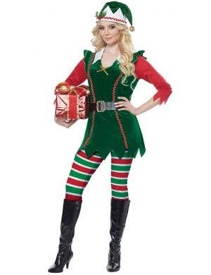 Festive Elf Women's Christmas Fancy Dress Costume