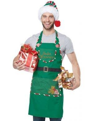 Santa's Helper Workshop Elf Christmas Apron
