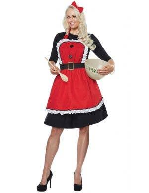 Santa's workshop elf Christmas apron fancy dress costume accessory- Main Image